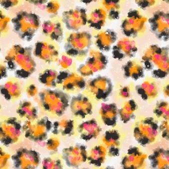 수채화 동물 인쇄 패턴