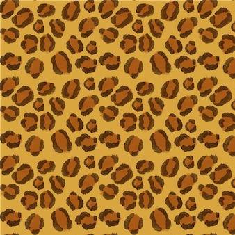 Watercolor animal print pattern