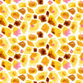 水彩アニマルプリントパターン