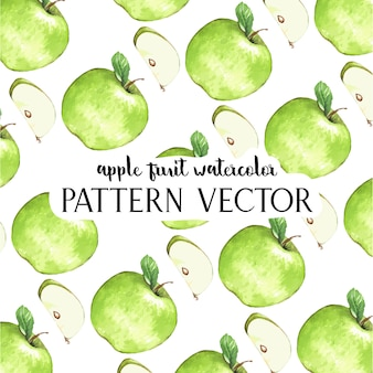 Watercolor apples pattern