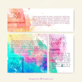 Watercolor artistic banners