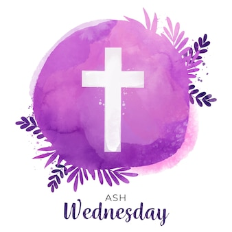Watercolor ash wednesday background