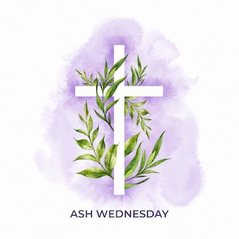 Watercolor ash wednesday