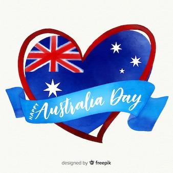 Watercolor australia day background