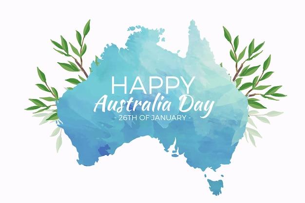 Watercolor australia day