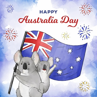 Watercolor australia day