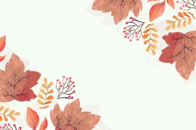 水彩秋背景