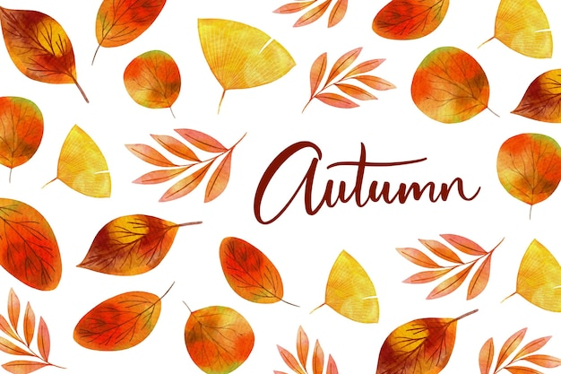 Watercolor autumn background