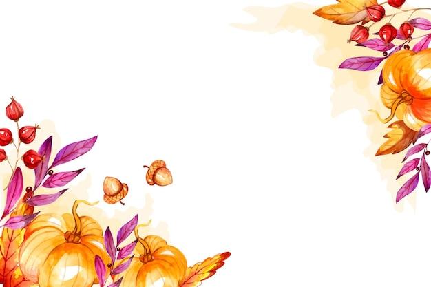 수채화 가을 배경