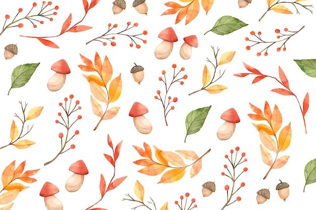 Watercolor autumn background