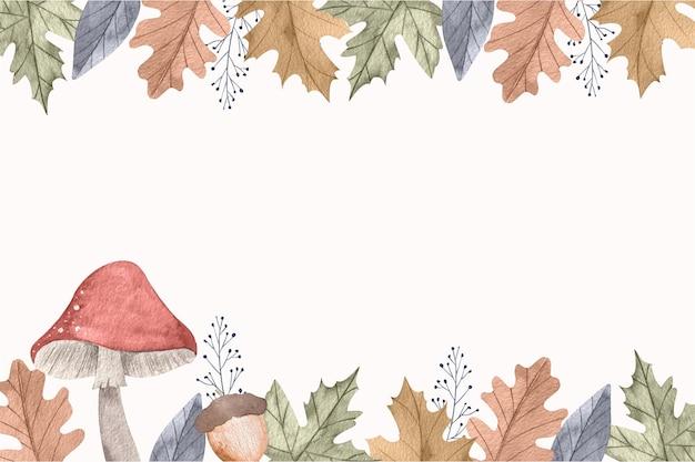 Осенний акварельный фон