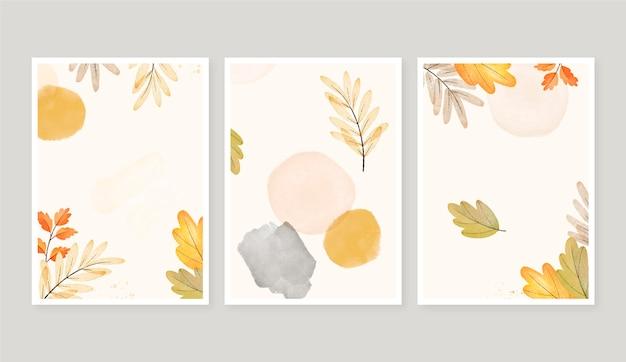 水彩秋のカードコレクション