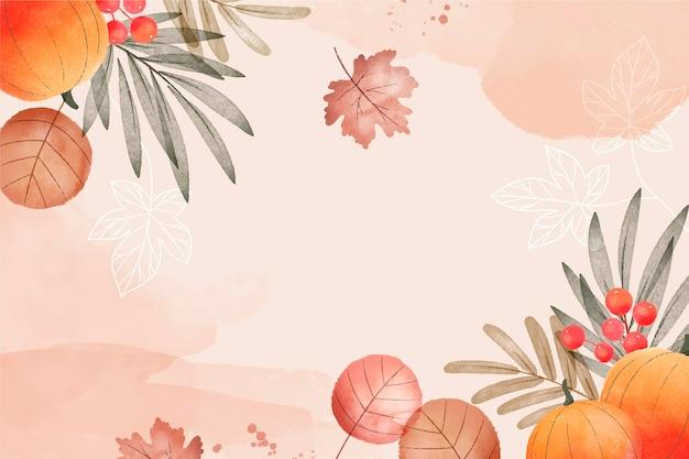 水彩の秋の収穫の背景