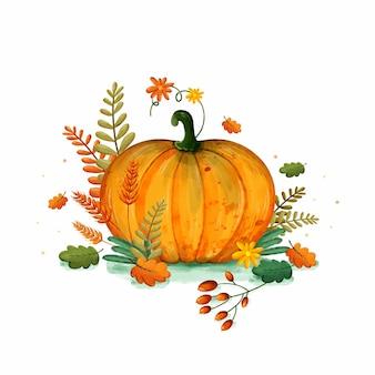 Illustrazione di autunno dell'acquerello