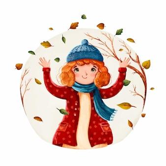 Watercolor autumn illustration