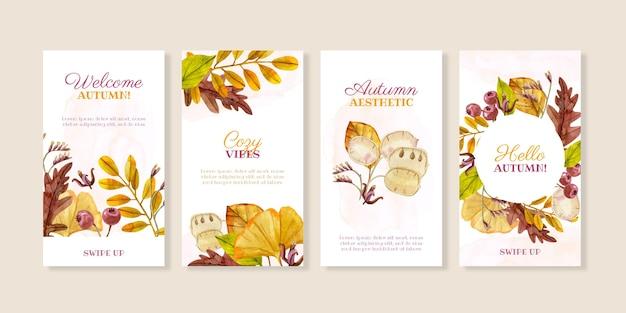 Watercolor autumn instagram stories