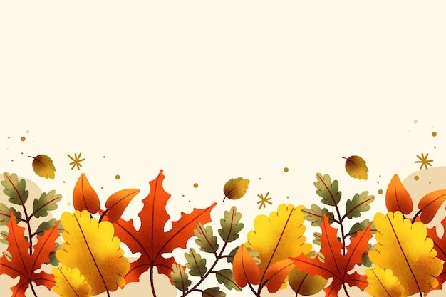 Sfondo di foglie autunnali dell'acquerello