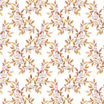 수채화 단풍 패턴