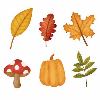 Акварельные осенние листья