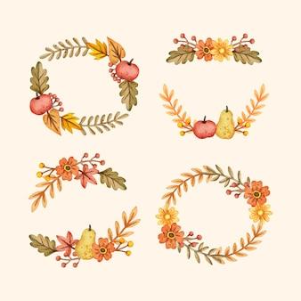 수채화 가을 장식품 컬렉션