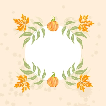 Watercolor autumn ornaments collection