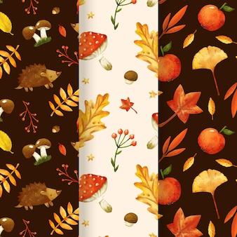 수채화 가을 패턴 컬렉션
