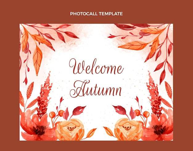 수채화 가을 photocall 템플릿