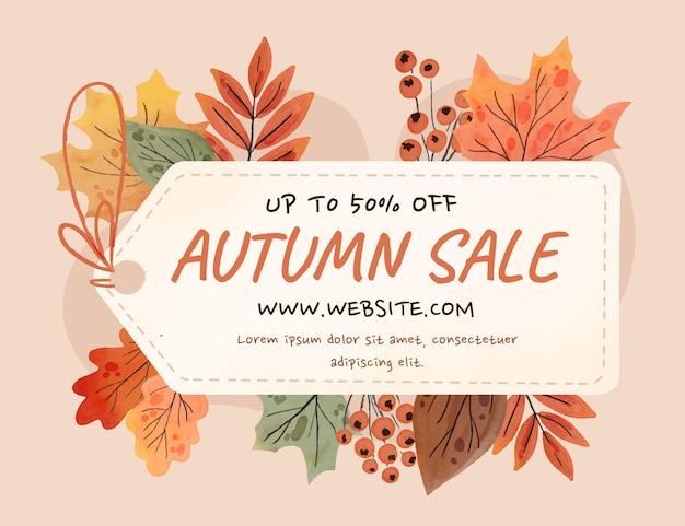 Watercolor autumn sale background