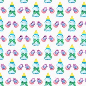 수채화 베이비 샤워 패턴