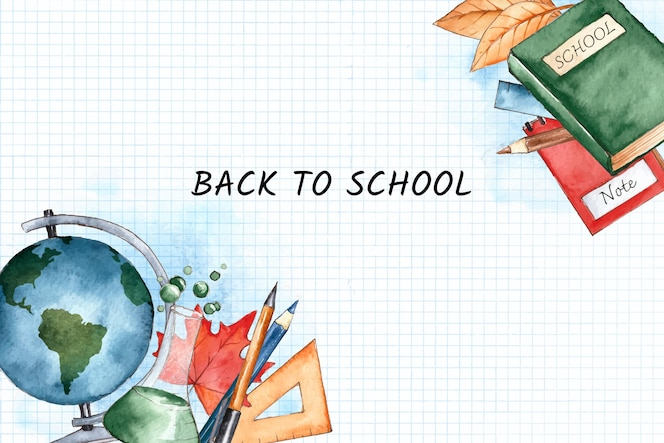 Акварель обратно в школу