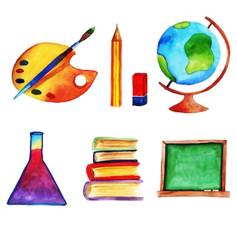Watercolor Back to School Stationery Collection