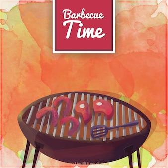 Priorità bassa dell'acquerello di barbecue