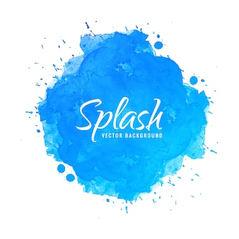 Watercolor background hand paint splash