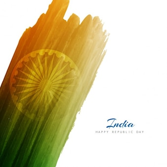 Watercolor background of indian republic day