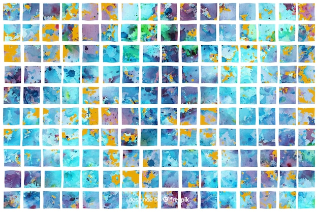 Watercolor background in mosaic style