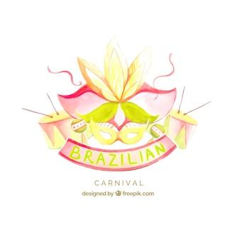 Акварельный фон бразильского карнавала