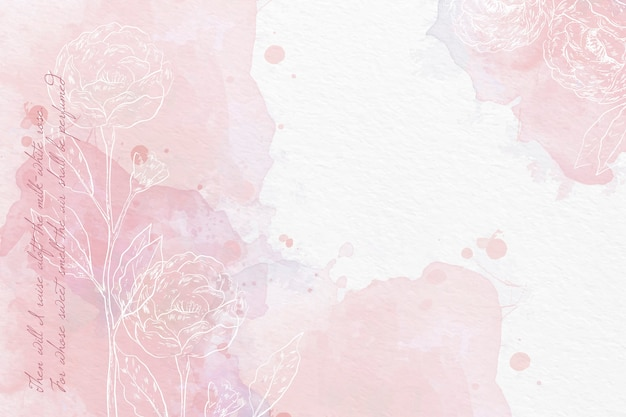 Watercolor background in pastel colors