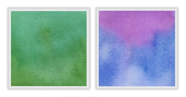 Watercolor background set with abstract brush