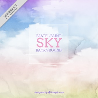 Watercolor background of sky in pastel colors