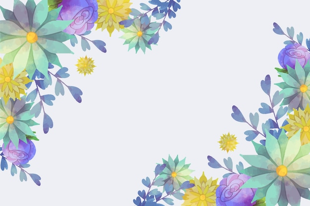 Watercolor background theme