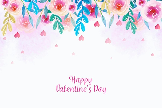 Watercolor background valentine's day