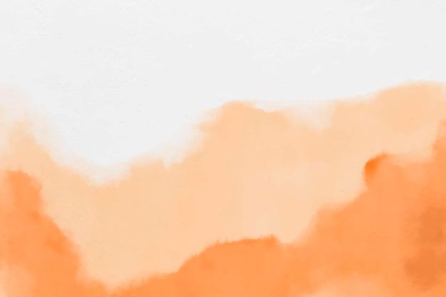 오렌지 추상 스타일의 수채화 배경 벡터