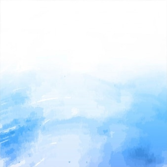 Watercolor background, white and blue