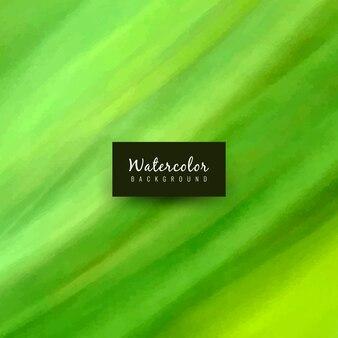 Абстрактный зеленый акварельный фон