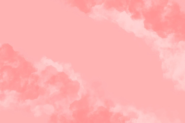 Watercolor background with clouds