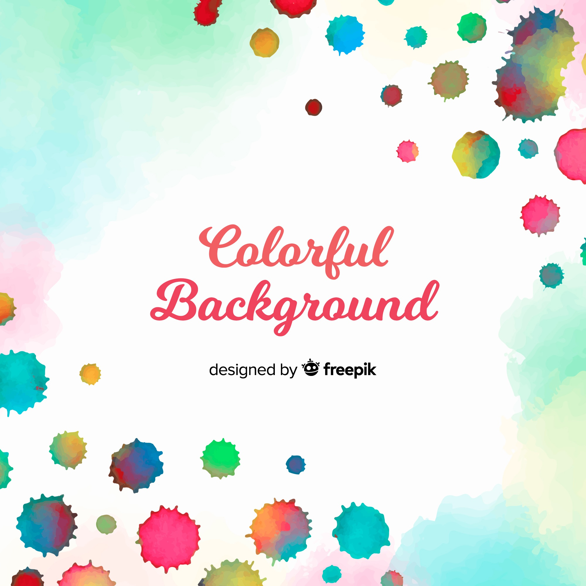 Watercolor background with colorful style