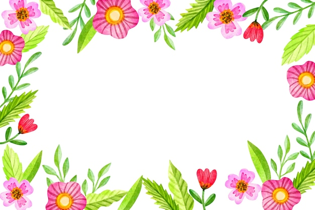 花の水彩画の背景