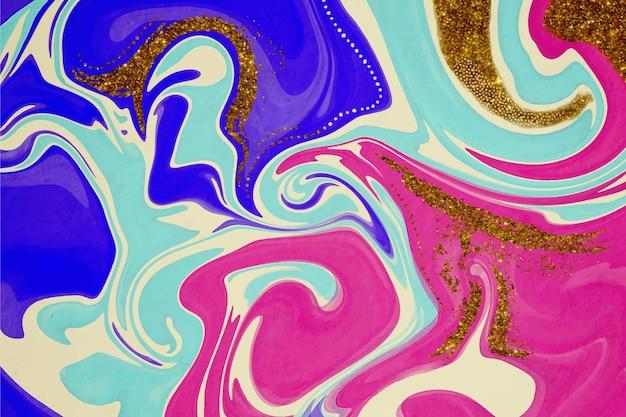 金箔と水彩の背景