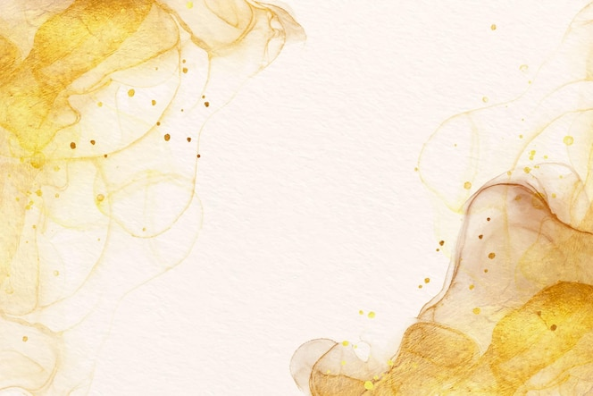 고급스러운 황금 액센트가있는 수채화 배경