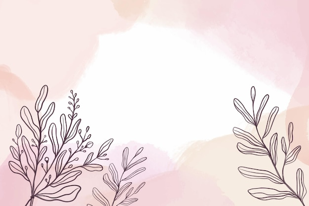 Акварельный фон с растениями